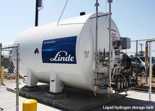 Linde liquid hydrogen storage tank