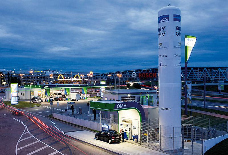 Hydrogen filling station Flughafenstr. (OMV), Stuttgart - Germany