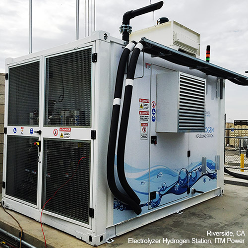 Electrolyzer hydrogen station in Riverside, California - ITM Power